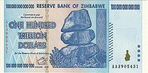 English: The Obverse of the 2009 Zimbabwe $100...