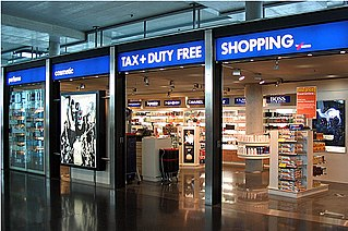 retail outlets that are exempt from the payment of certain local or national taxes and duties