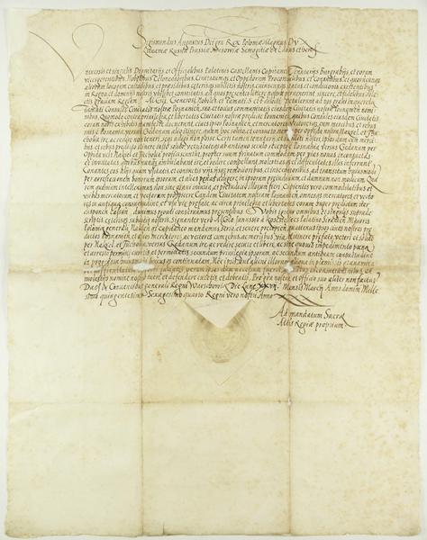 File:Zygmunt II August król polski, zarząda, aby transport towarów odbywał się drogą prowadzącą do Gdańska przez Nakło i Tucholę..png