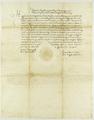 Zygmunt II August król polski upoważnia Janusza z Kościelca wojewodę brzeskiego i starostę generalnego Wielkopolski, aby stał na straży przywileju składowego.png