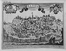 Veduta della città ne Il Regno di Napoli in prospettiva, 1703, di Giovan Battista Pacichelli
