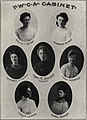 """YWCA CABINET"" from- 1905 Webfoot University of Oregon yearbook (page 100 crop).jpg"