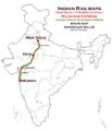 (New Delhi - Mumbai) Rajdhani Express Route map.png