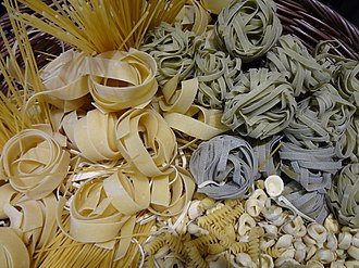 Pasta - A collection of different pasta varieties
