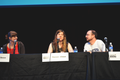 (full) American authors Amber Benson, Maureen Johnson, and John Scalzi at LA Times Festival of Books 2012.png