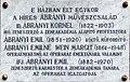 Ábrányi család emléktáblája Budapest.jpg