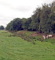Munkekanalen ca 1 km øst for klosteret