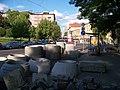 Čechovo náměstí, rekonstrukce, směr Kavkazská.jpg