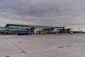 Yemelyanovo International Airport - Apron view of new terminal 1