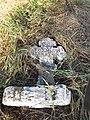 Курган біля кладовища с.Новоселівка, більший кам'яний хрест, обидві частини.JPG