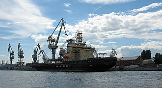 Baltic Shipyard - Icebreaker Moscow during the final stage of construction on the Baltic Shipyard, 2008