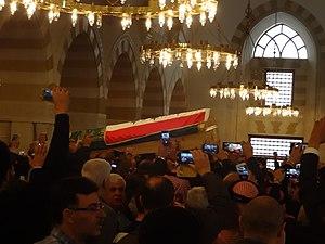 Harith al-Dhari - Dhari's funeral at the King Hussein Bin Talal Mosque in Amman