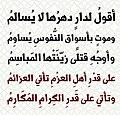 مقطع من مخمسة تميم البرغوثي لقصيدة أبو الطيب المتنبي على قدر أهل العزم.jpg