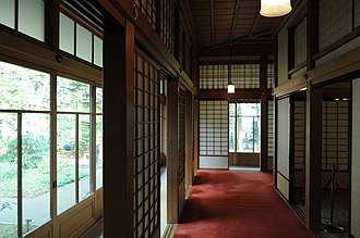 Tamozawa Imperial Villa - Hallway outside the throne room towards the gardens