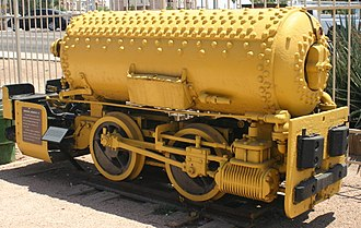 Pneumatics - Pneumatic (compressed-air) locomotives like this were often used to haul trains in mines, where steam engines posed a risk of explosion. This one is preserved H.K. Porter, Inc. No. 3290 of 1923.