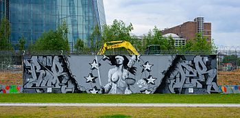 03-05-2014 - Graffiti near European Central Bank - EZB - Frankfurt Main - Germany - 04.jpg