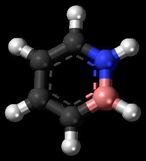 1,2-Dihydro-1,2-azaborine - Image: 1,2 Dihydro 1,2 azaborine 3D balls