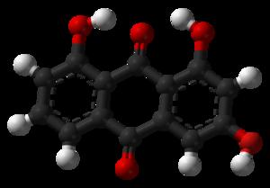 1,3,8-Trihydroxyanthraquinone - Image: 1,3,8 trihydroxyanthraquin one 3D balls