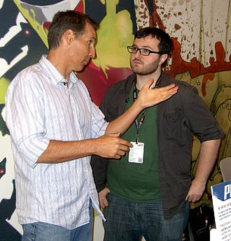 Todd McFarlane - McFarlane at the Image Comics booth at the 2011 New York Comic Con