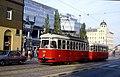108R21210983 Alserbachstrasse, Bereich FJB, Blick Richtung Friedensbrücke, Strassenbahn Linie 31 5, Typ L4 580.jpg