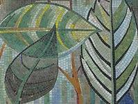 1170 Andergasse 10-12 - Ernest Bevin-Hof Stg 2 - Hauszeichen Salweidenblätter von Adele Stadler 1958 IMG 4794.jpg