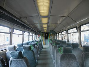 British Rail Class 142 - The interior of a Northern Spirit refurbished Class 142