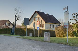 Boncourt, Switzerland - French/Swiss border at Boncourt village