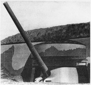 Fort Greene (Rhode Island) - 16-inch casemated gun, similar to those at Fort Greene.