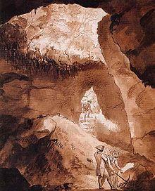Die Einhornhöhle in Harz, um 1780 (Quelle: Wikimedia)