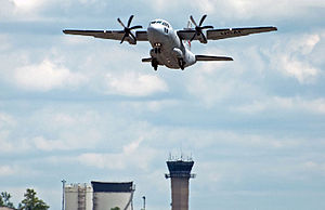 179th Airlift Wing C-27J Spartan flying over Mansfield Tower.jpg