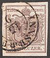 1850 Stamp Austria-Hungary 0004, Innsbruck, 15 September.jpg