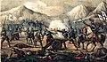 1853, Los mártires de la libertad española, vol I, Ayala toma la artillería a los imperiales en el valle de Arratia (cropped).jpg