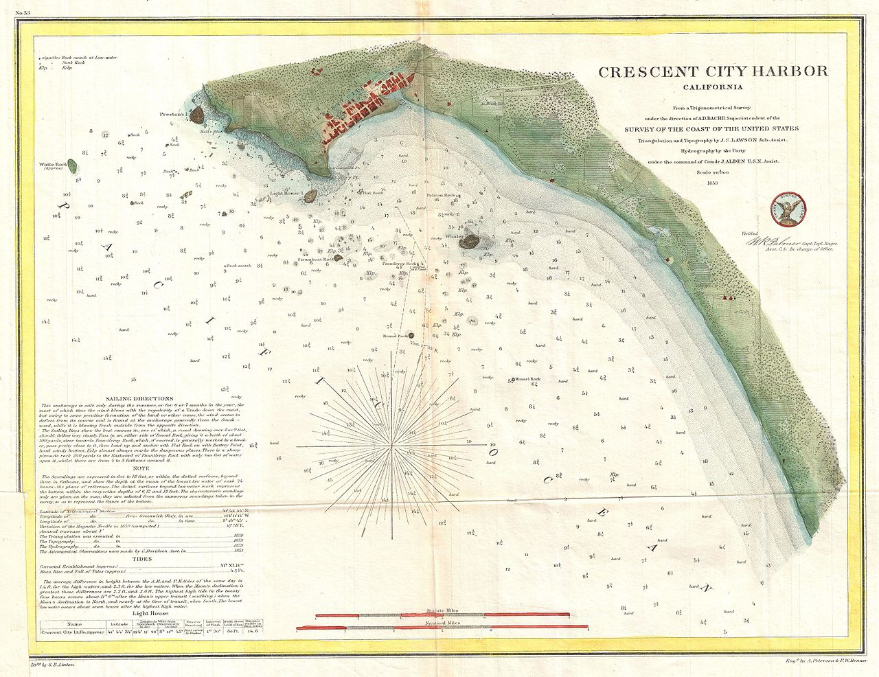 File US Coast Survey Map Or Nautical Chart Of Crescent City - Map ot the us