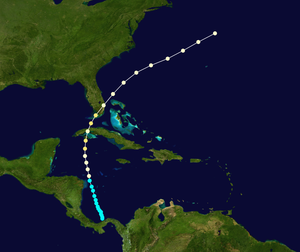1865 Atlantic hurricane season - Image: 1865 Atlantic hurricane 7 track