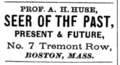 1871 Huse astrologer advert 7 Tremont Row Boston.png