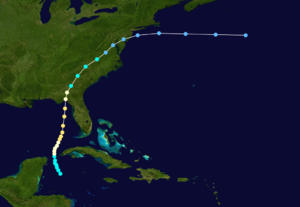 1886 Atlantic hurricane season - Image: 1886 Atlantic hurricane 2 track