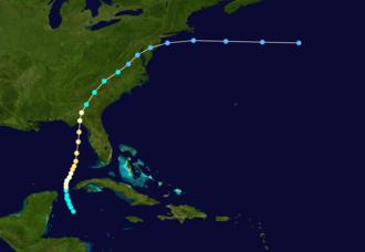 1886 Atlantic hurricane season - Image: 1886 Atlantic hurricane 2 track