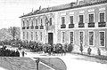 1887-02-08, La Ilustración Española y Americana, Aranjuez, Colegio de Huérfanos de la Infantería, Comba, Rico (cropped) fachada.jpg