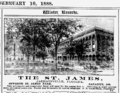 1888 St James advert Jacksonville Florida.png
