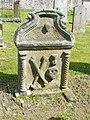 18thC gravestone, Eddleston - geograph.org.uk - 1326101.jpg