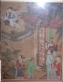 18th Century Chinese Painting on Silk of Father & His Children.png