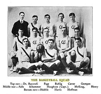1906–07 Chicago Maroons men's basketball team - Image: 1906 07 Uof C Basketball