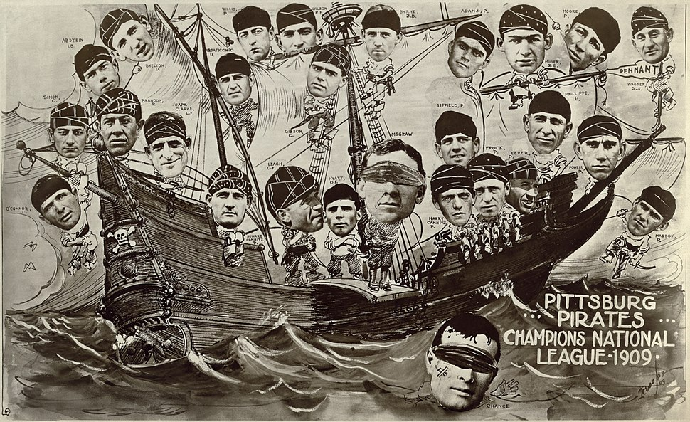 1909 Pittsburgh Pirates on a boat FINAL