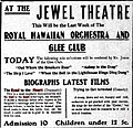 1909 newspaper advertisement for Biograph films in Astoria Oregon.jpg