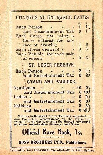 Poitrel - Image: 1920 AJC Cumberland Stakes Racebook P3