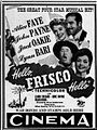 1943 - The Cinema Theater Ad - 29 Apr MC - Allentown PA.jpg