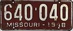 1948 Missouri license plate 640-040.jpg