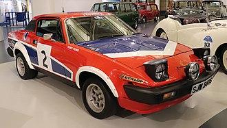 Triumph TR7 - Image: 1978 Triumph TR7 V8 Rally Car 3.5 Front