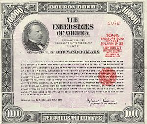Debt - 1979 U.S. Government $10,000 treasury bond