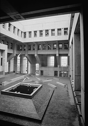 Campbell, Aldrich & Nulty - Boston City Hall, interior courtyard